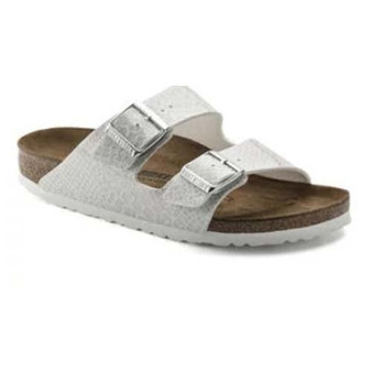 BIRKENSTOCK  - ARIZONA BIRKO-FLOR MAGIC SNAKE WHITE
