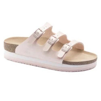 BIRKENSTOCK - FLORIDA BIRKO-FLOR ICY METALLIC LIGHT ROSE