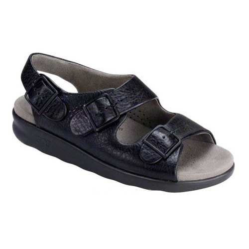 Relaxed Heel Strap Sandal has a classic casual style and super soft comfort. Available in Black and Web Linen
