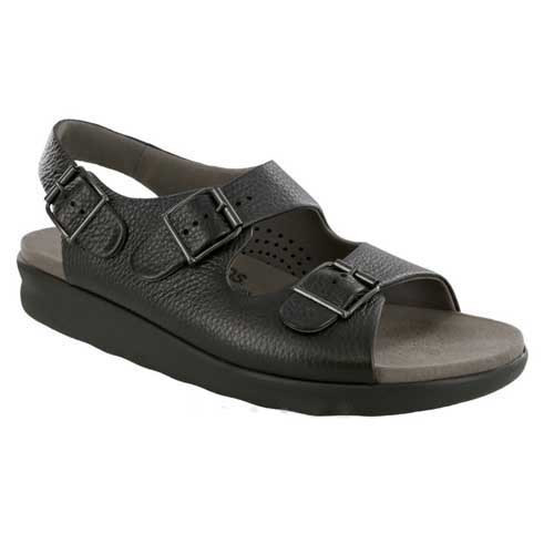Bravo sandal provides customizable fit and comfort for your feet. Available in Black