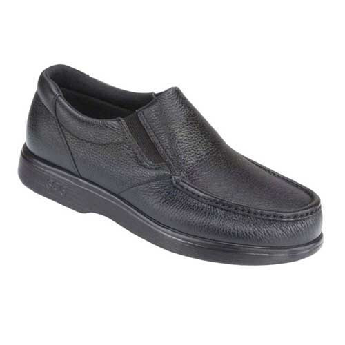 Side Gore Slip On Loafer features soft premium leather and padded lining. Your feet are supported for all-day wear. Available in Black and Size XW