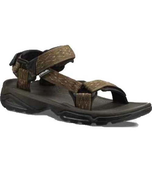 Teva Terra FI 4 Sandal stabilizes and supports your foot on uneven terrain. Available in Medang Olive Webbing