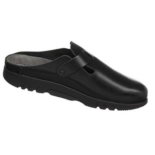 ZAVERIO FIT men's clog provides comfort, simplicity and elegance, and is perfect for special occasions, business and everyday wear. Available in Black