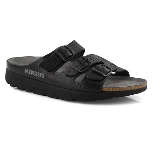 ZACH FIT protects your feet and takes the load off your joints.  Mephisto ZACH FIT Orthopedic Men Sandals, with slip resistant sole, guarantee a walk without fatigue. They make you feel fit and full of energy even after many hours of wear. Available in Dark Brown and Black