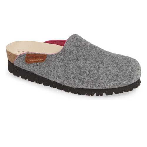 Mephisto Thea Clog slip on is a super-comfortable, handmade felt slipper. Available in Grey