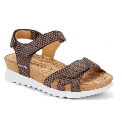 QUIRINA is extremely comfortable and fatigue-free walking sandal for summer. Available in Dark Brown and Strawberry