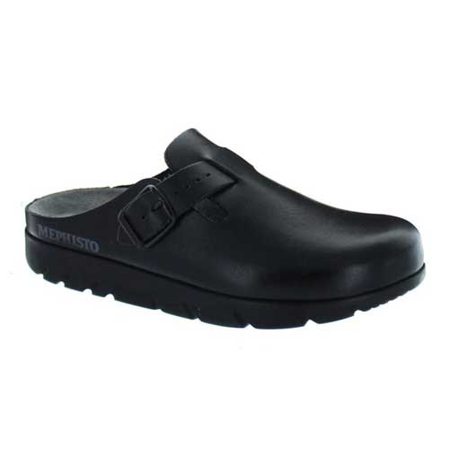 MEPHISTO ZAVERIO FIT Premium leather clogs provides lasting support and cushioning. Available in Black