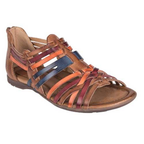 Earth Shoes Bonfire with reinforced arch support for all-day comfort Available in Sand Brown Multi Soft