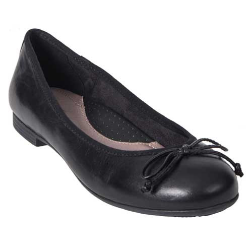 ALLEGRO ballet flat with reinforced arch support for all-day comfort Available in Black