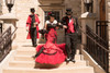 red and black steampunk wedding dress