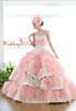 Pink and Ivory Wedding Dress