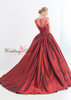 Red Wedding Dress with Illusion Lace Details