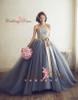 Blue Tulle Wedding Dress