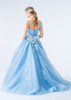 Light Blue Tulle Wedding Dress