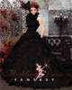 black steampunk wedding dress