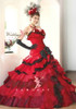 Red and Black Wedding Dress