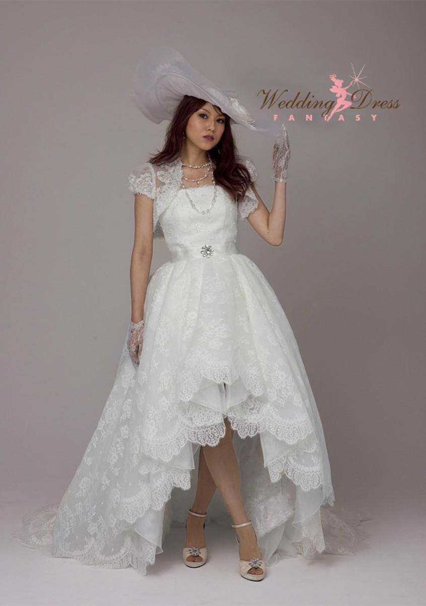 High Low Wedding Dresses.Gorgeous High Low Lace Wedding Dress