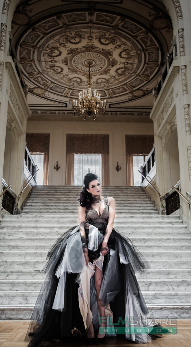 gothic wedding dress vintage