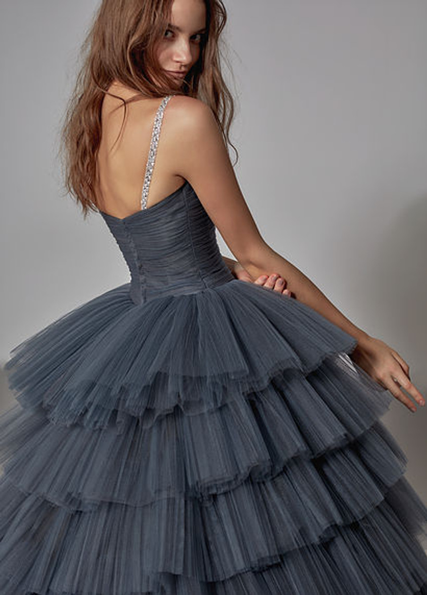 Charcoal Gray Wedding Dress