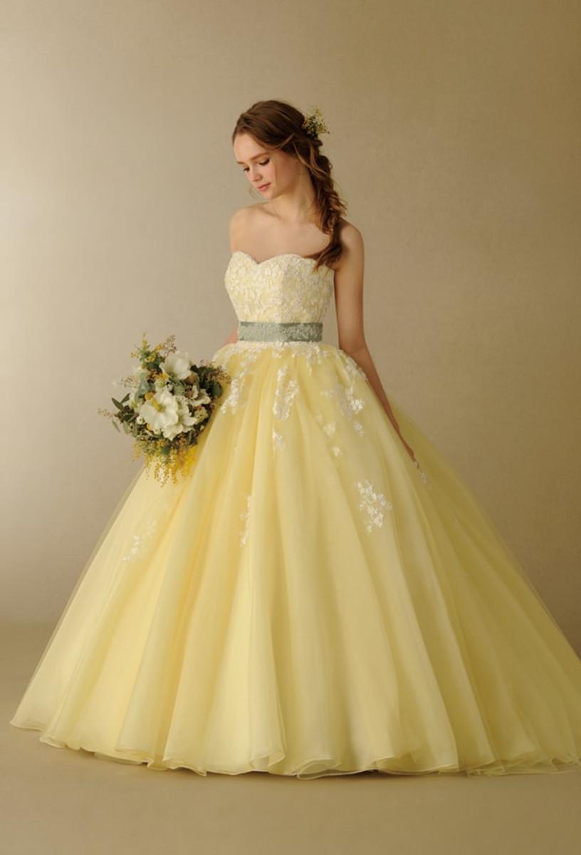 Pretty Yellow Wedding Dress