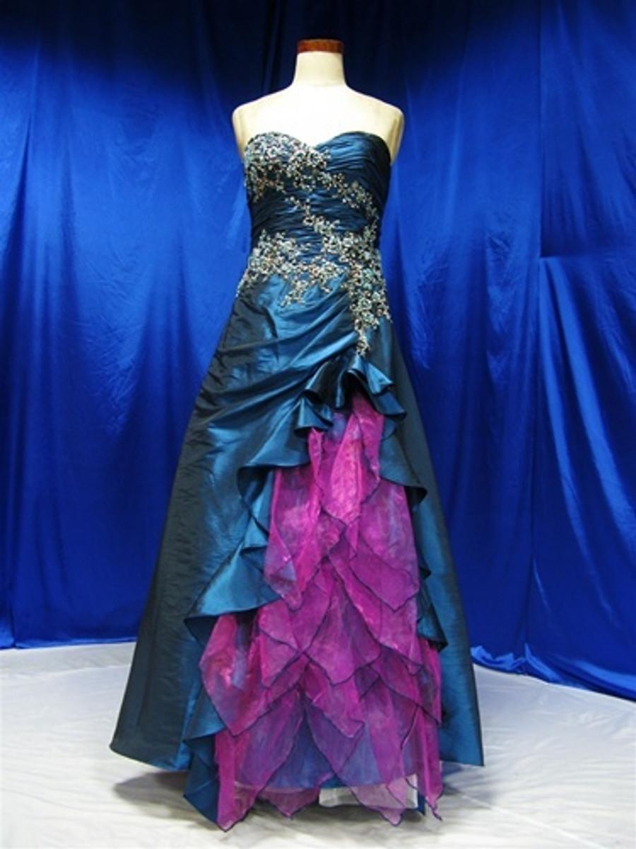 4797954d1b7 Peacock Wedding Dress