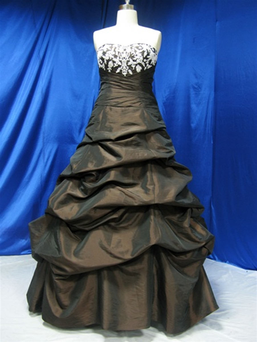 Black Taffeta Wedding Dress - Available in Every Color 1