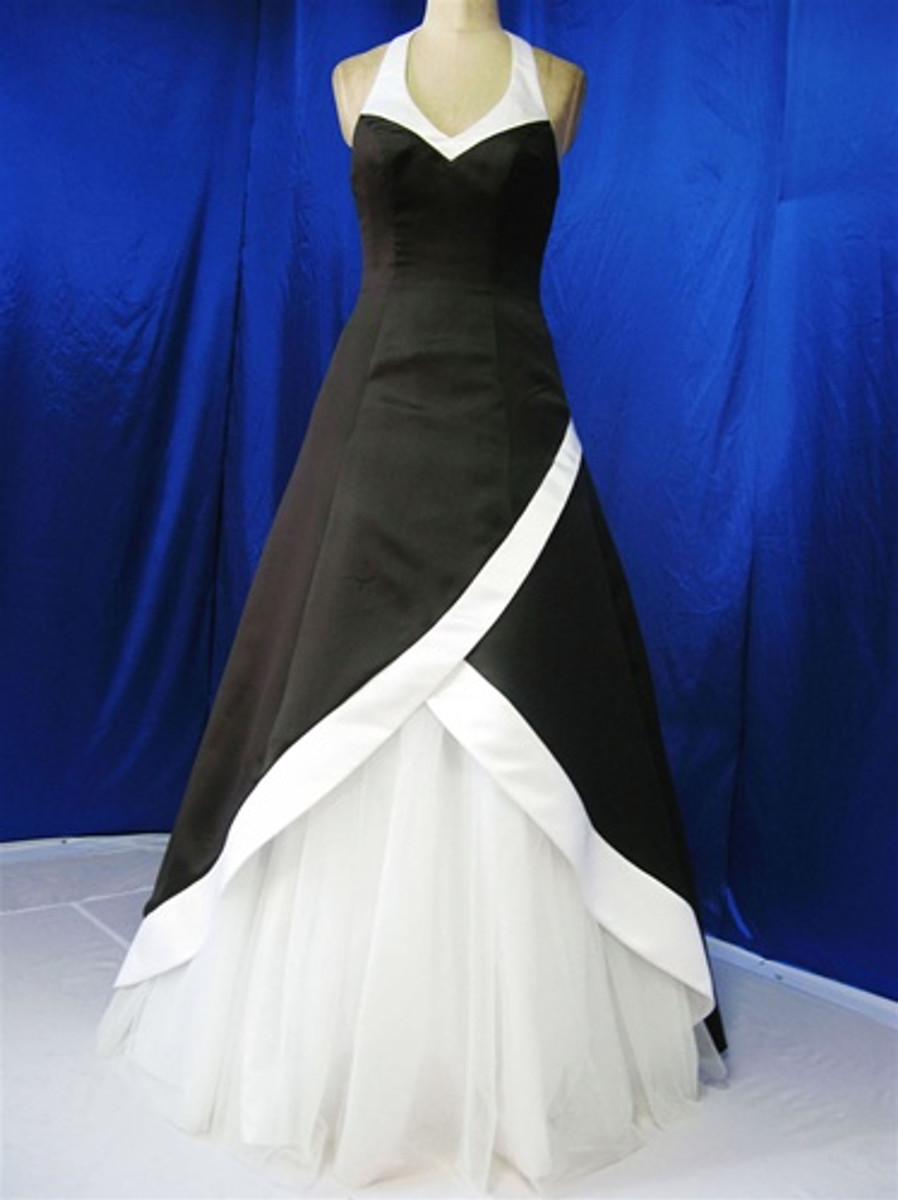 Black and White Wedding Dress - Available in Every Color 1
