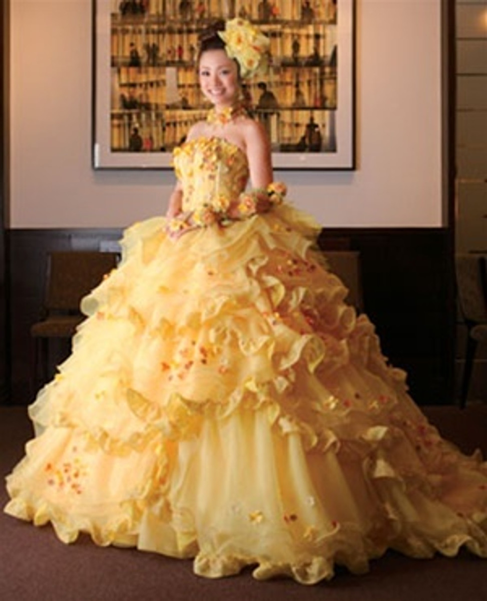 Belle Yellow Wedding Dress