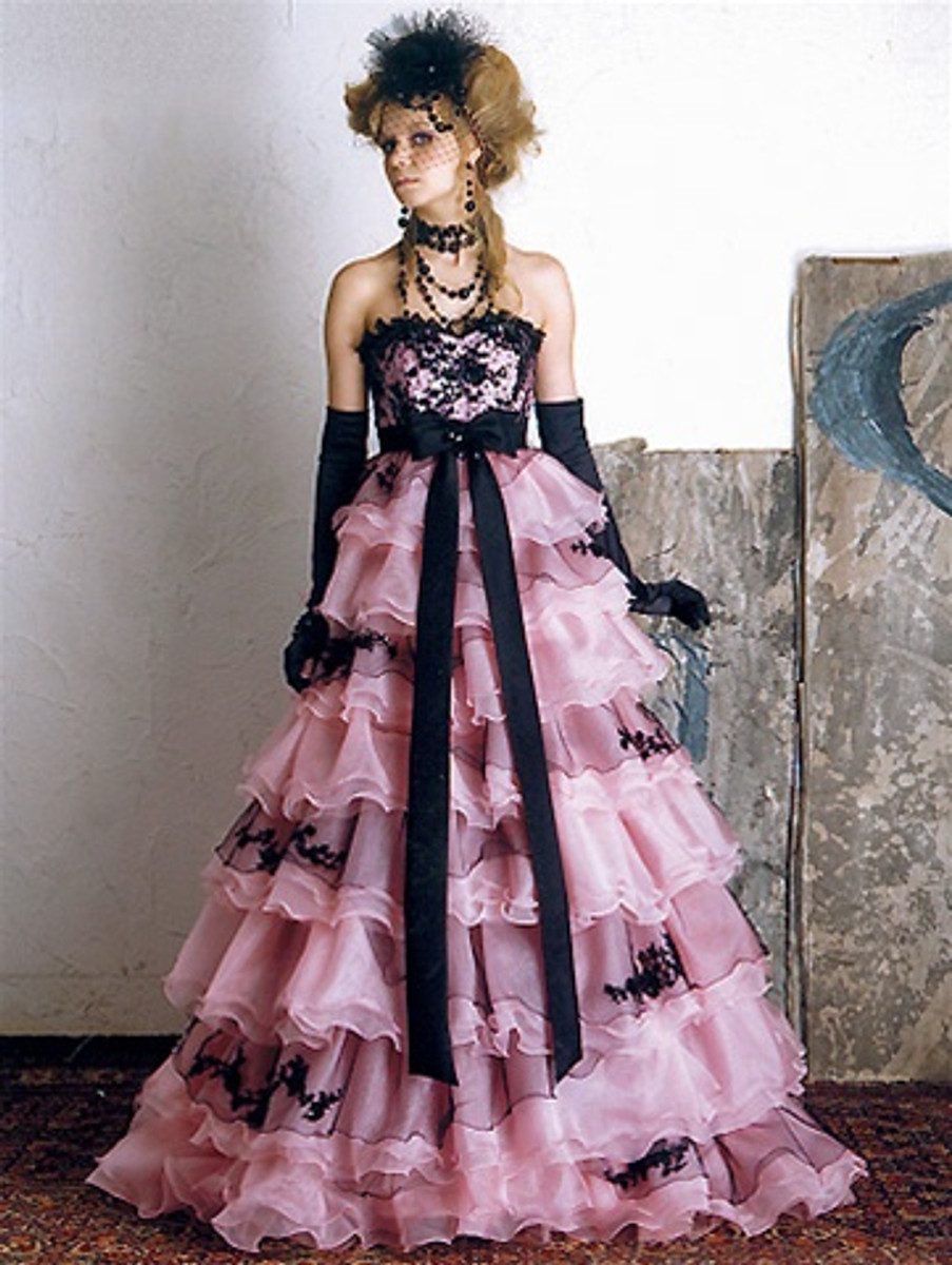 Pink And Black Wedding Dress Available In Every Color 3