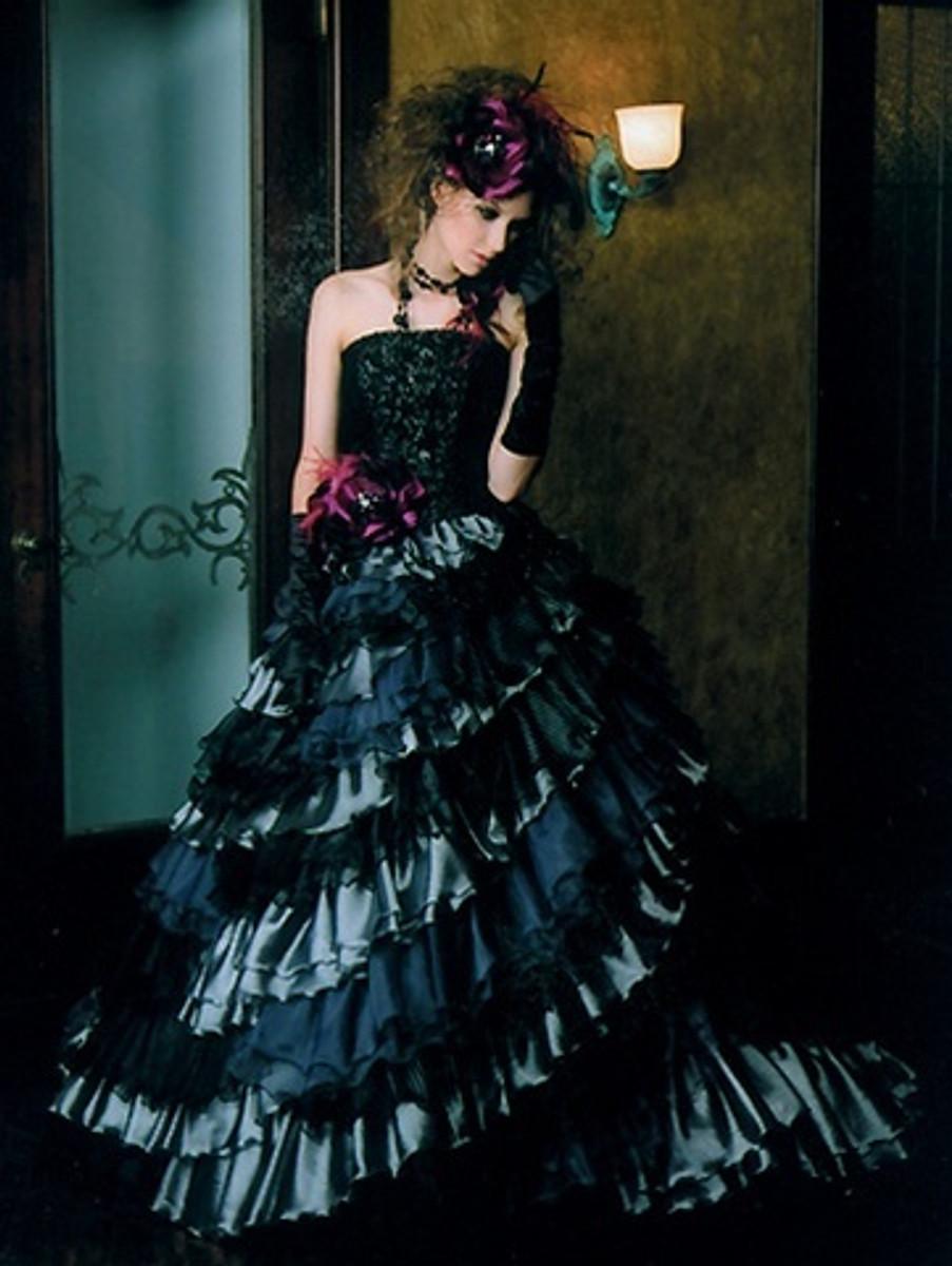 Black Gothic Wedding Dress