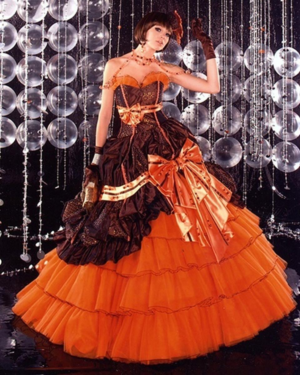 Orange Wedding Dress Halloween