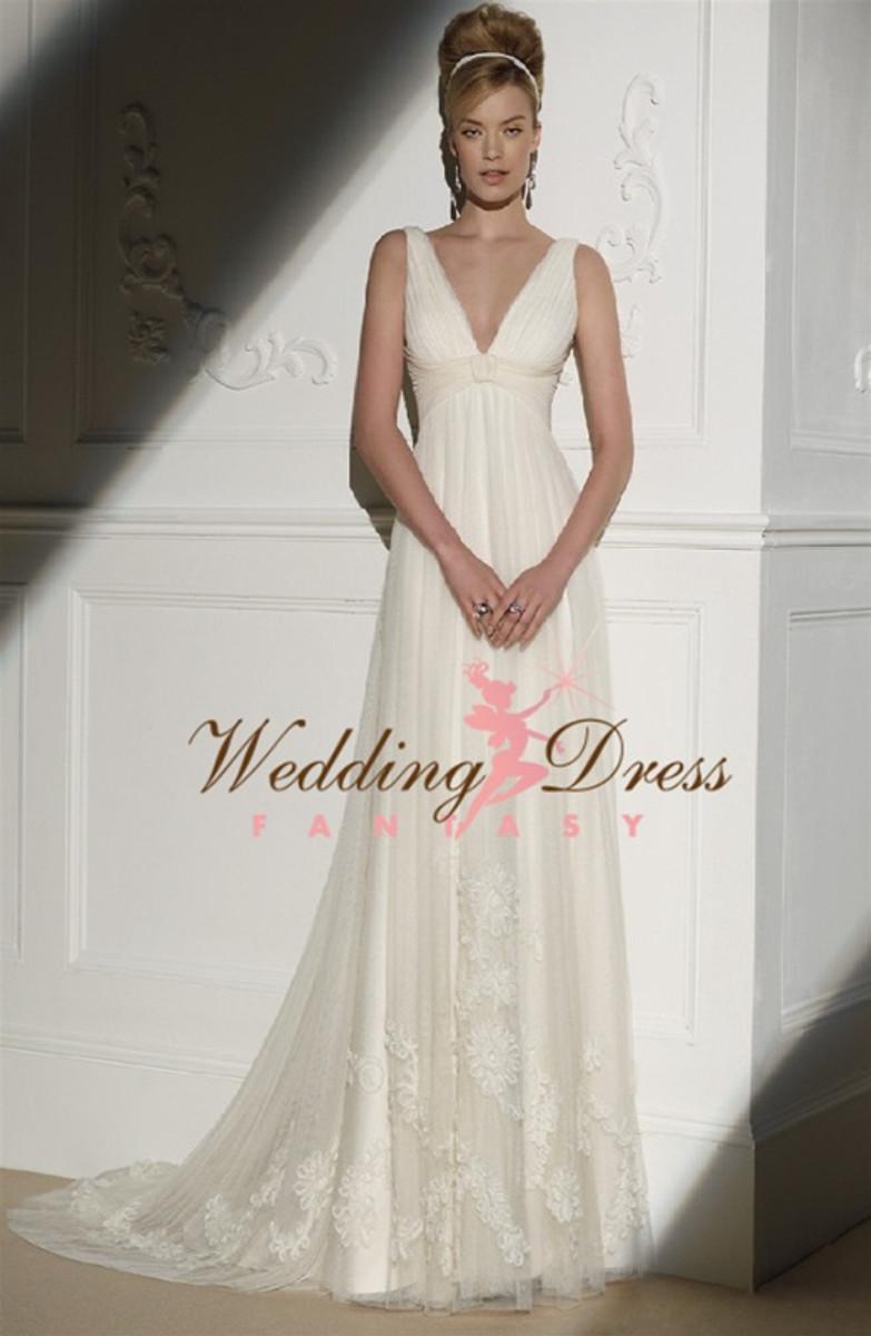 Empire Waist Couture Wedding Dress Ella