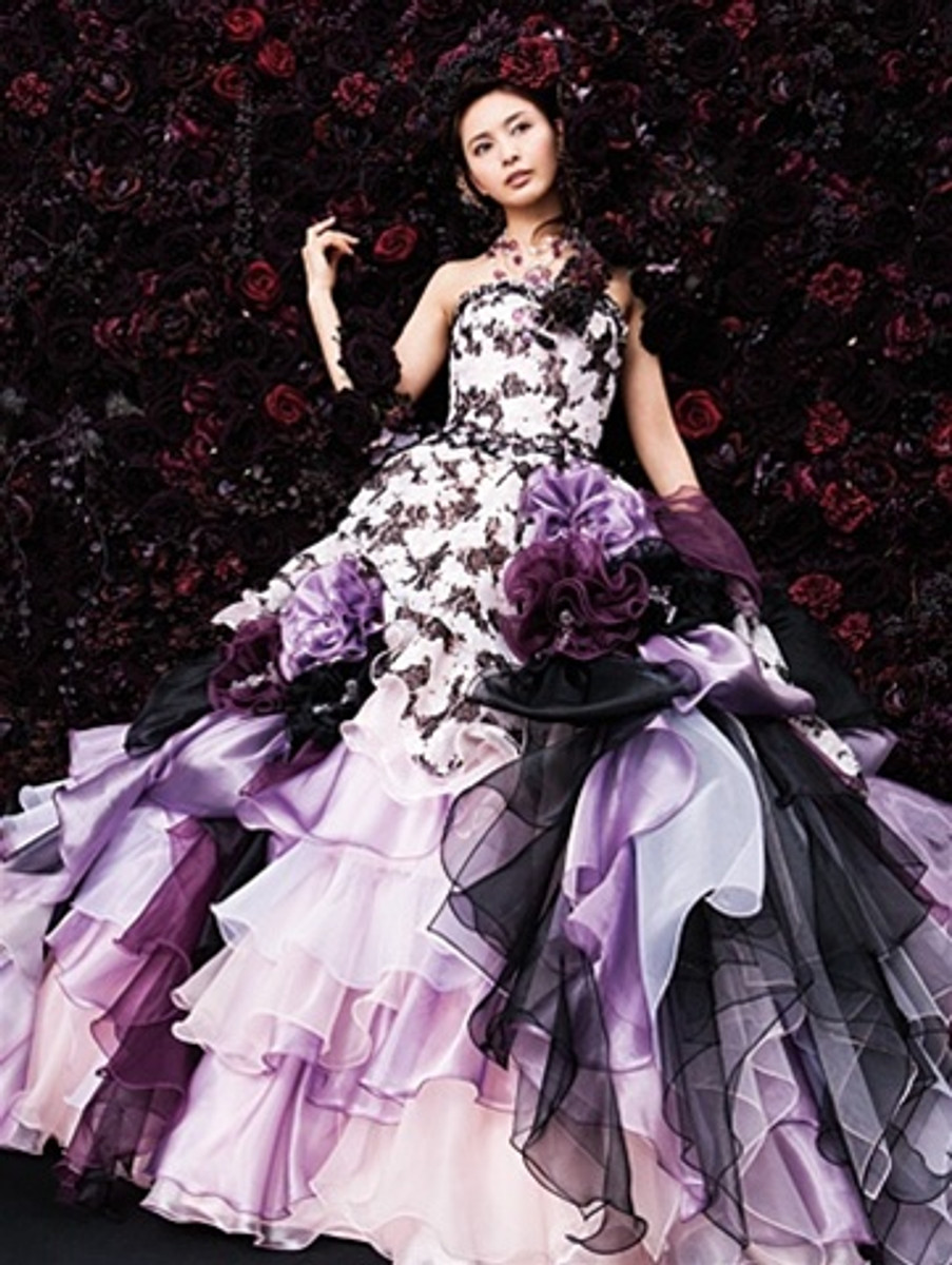 Purple Bridal Gown  - Available in Every Color