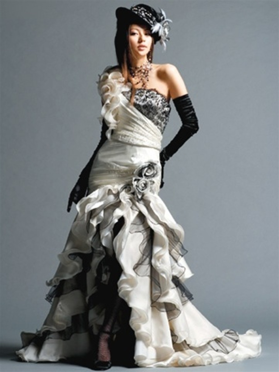 Steampunk Wedding Dress.Gothic Wedding Dress Available In Every Color