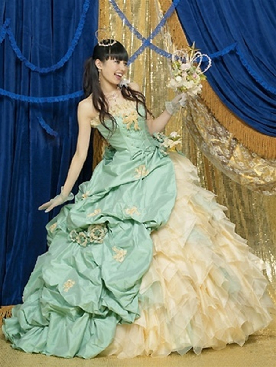 Green Victorian Wedding Dress
