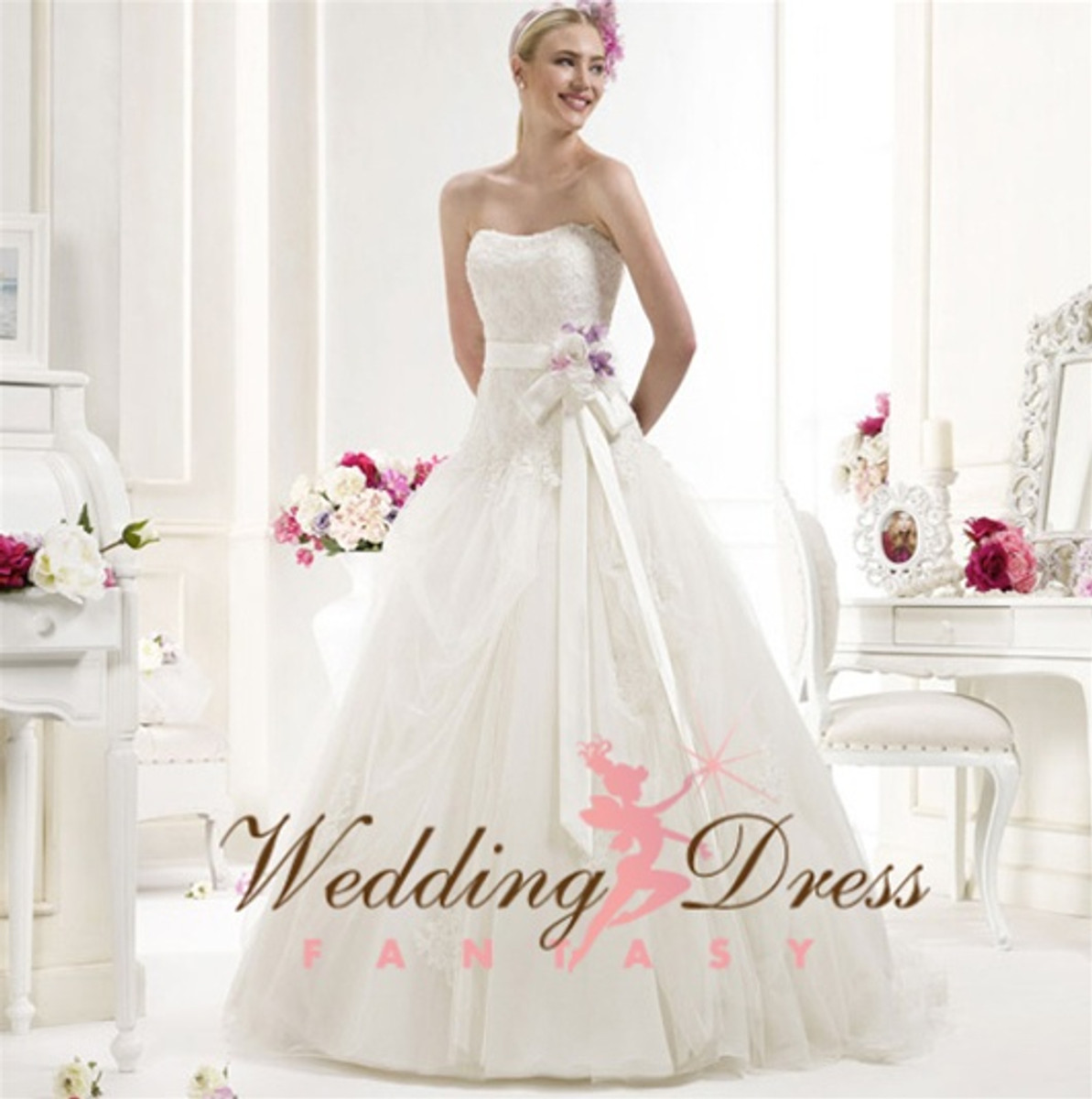 Vintage Inspired Wedding Dress- Available in Every Color 1