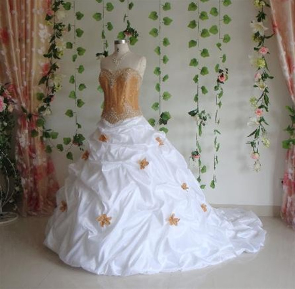 Gold Taffeta Wedding Dress - Available in Every Color 9