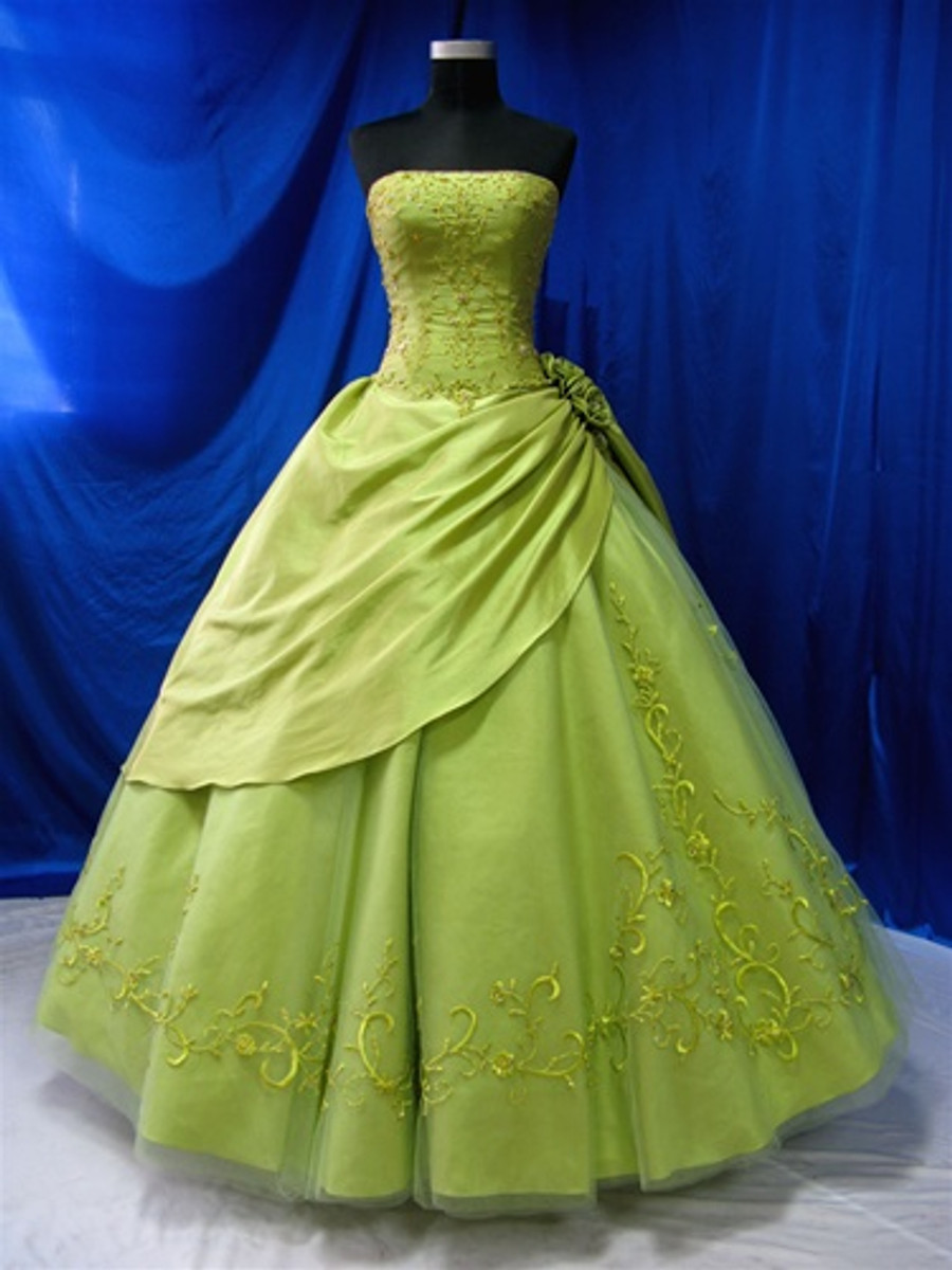 Green Wedding Dress - Available in Every Color 6