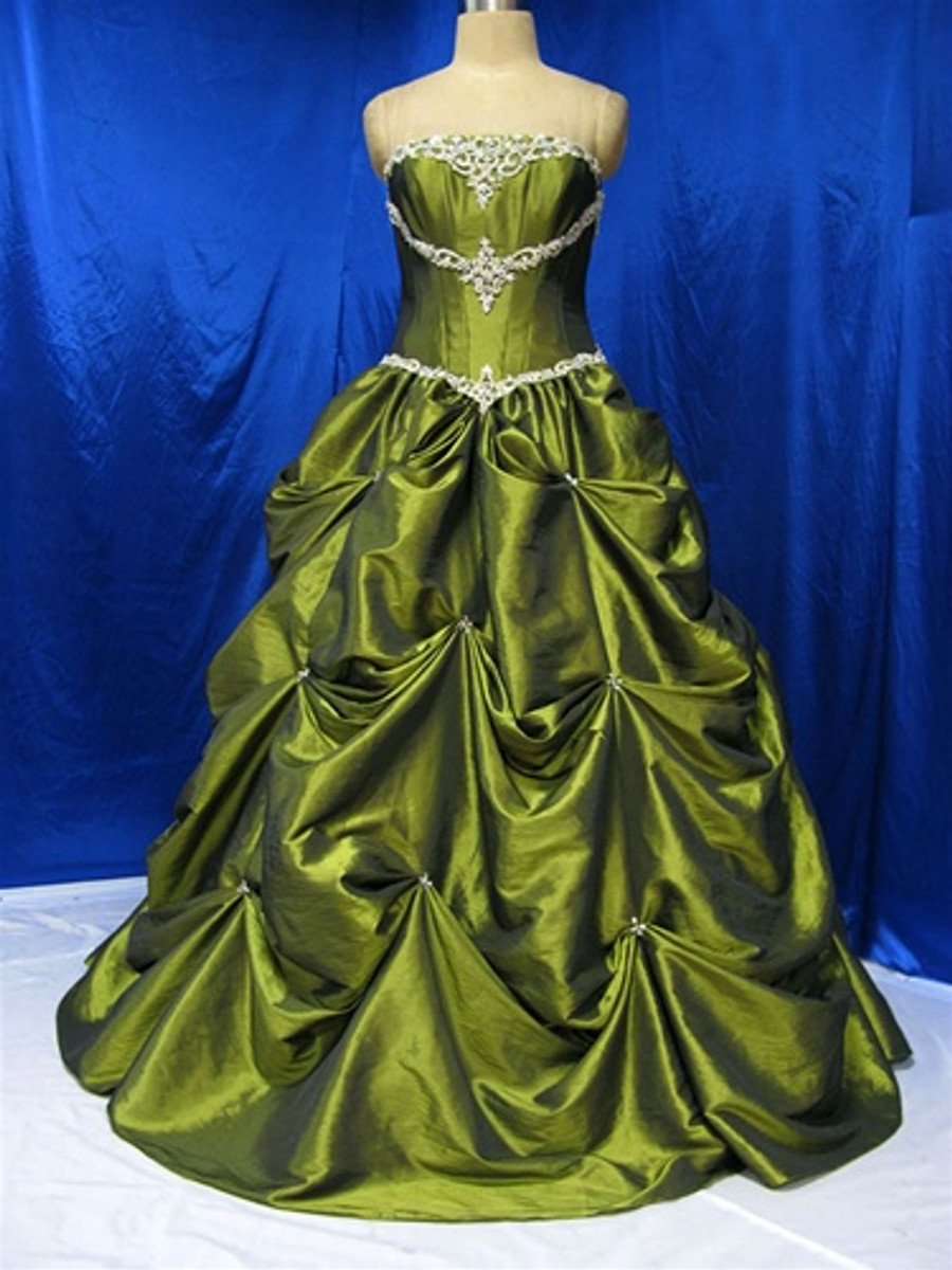 Green Wedding Dress - Available in Every Color 8