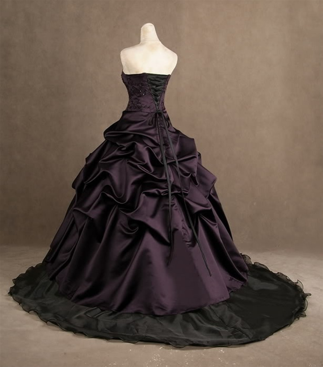 Purple Wedding Dress, Plum Wedding Dress