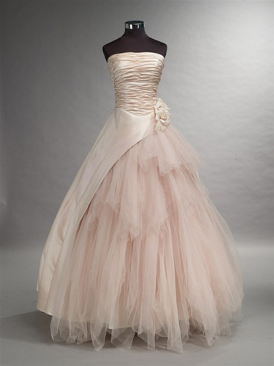 Pink Wedding Dress with Tulle