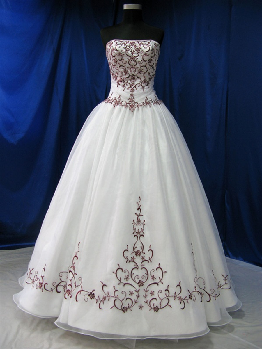 Red And White Wedding Dress Available In Every Color Wedding Dress Fantasy