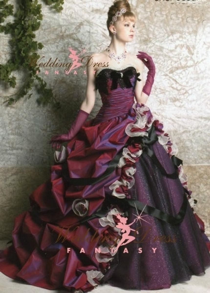 Purple Unique Wedding Dress
