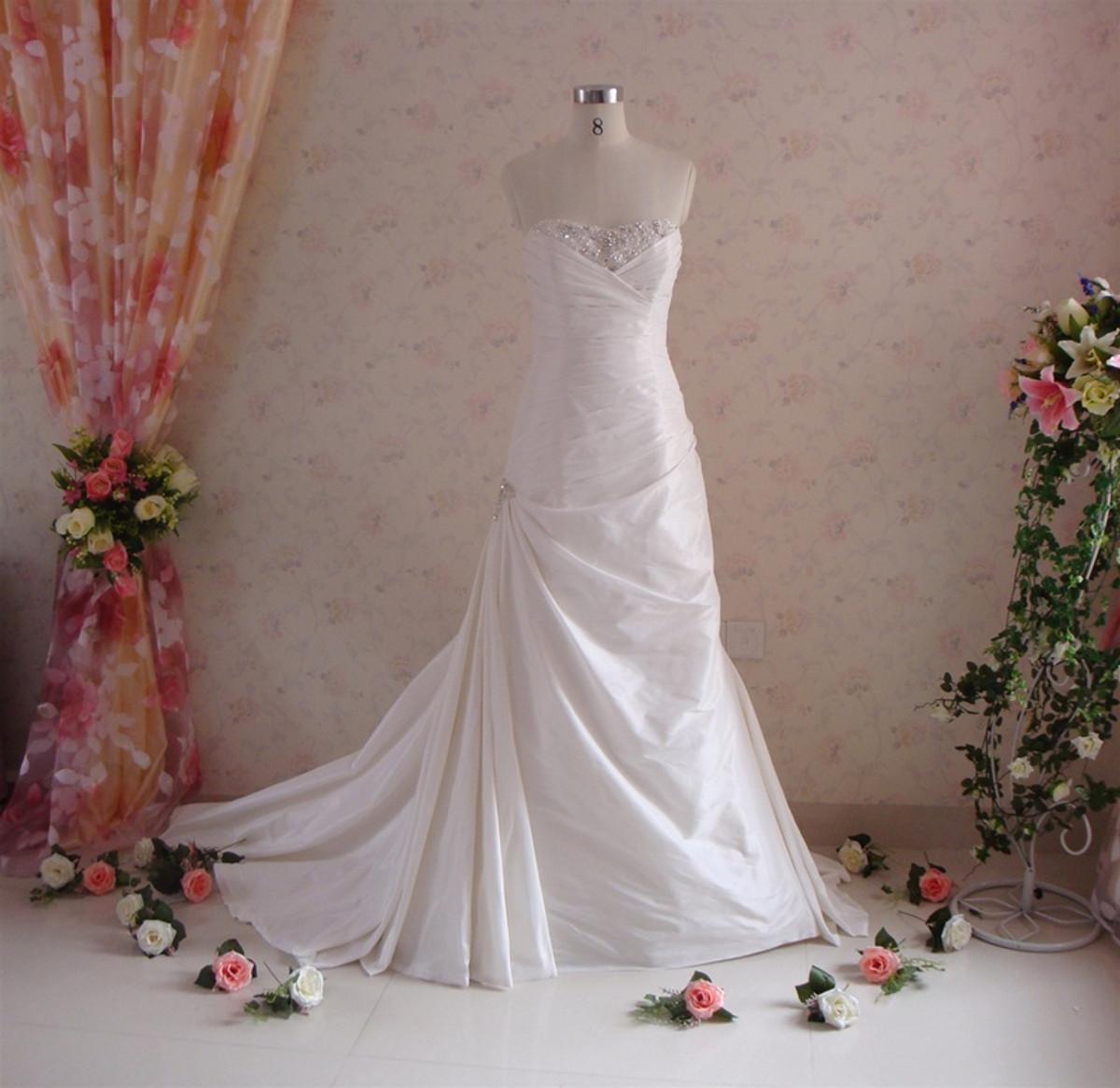 Trumpet Style Vintage Inspired Wedding Dress- Available in Every Color 5