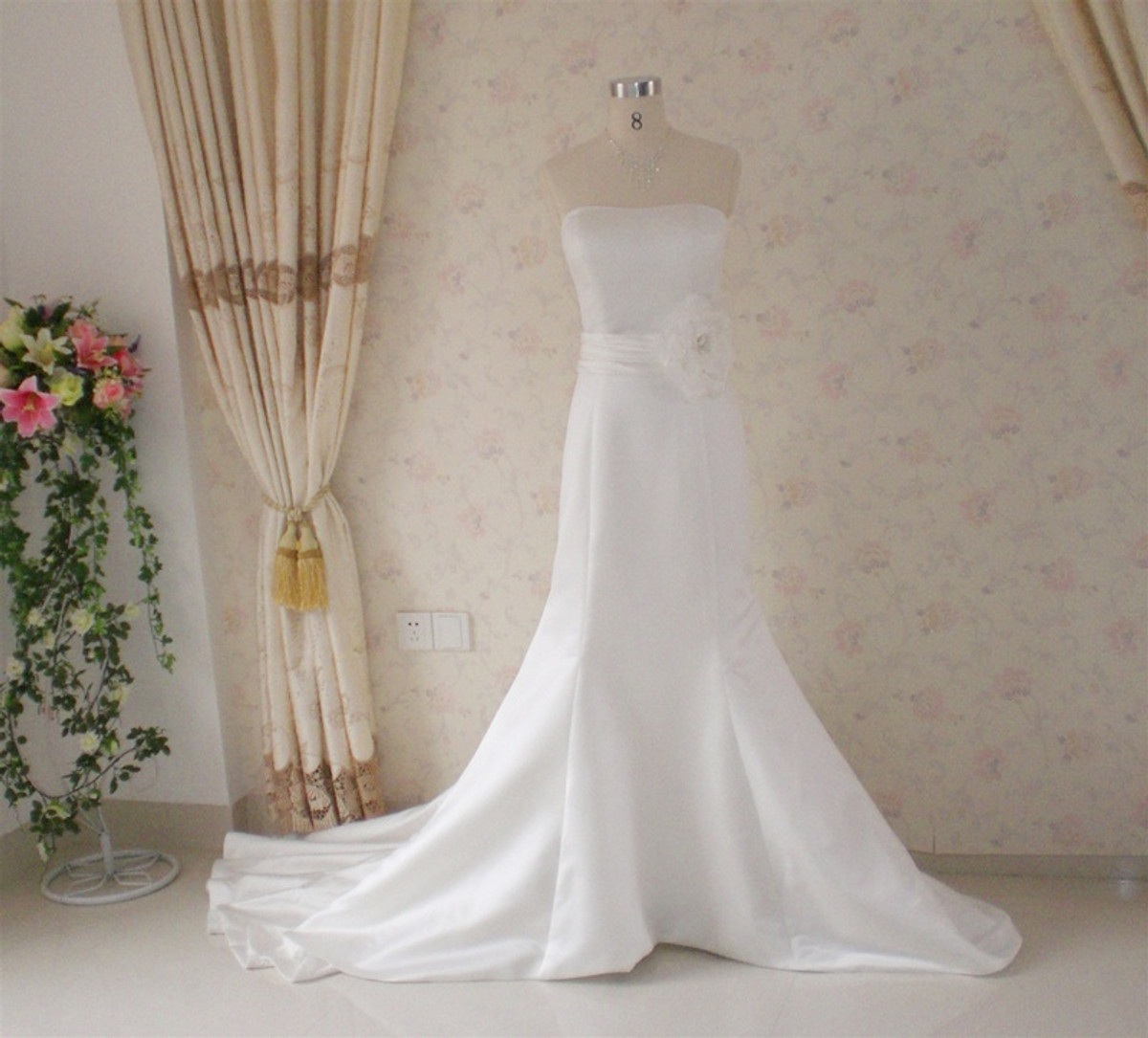 Mermaid Style Vintage Inspired Wedding Dress- Available in Every Color 2