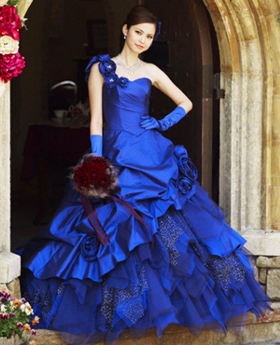 Royal Blue Bridal Gown - Wedding Dress