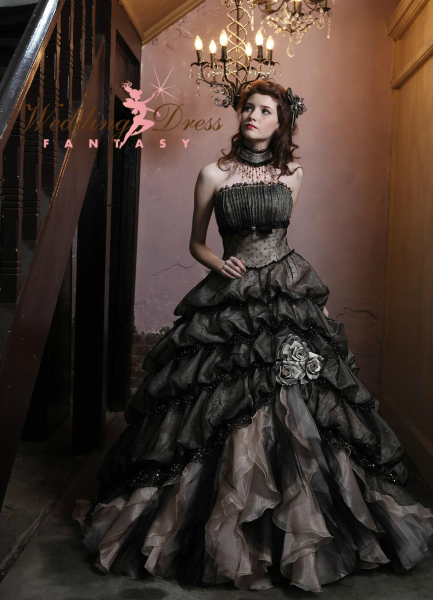 f7b8a4d547 Black Wedding Dress