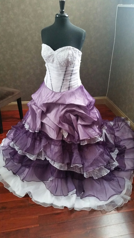 Purple and White Dresses