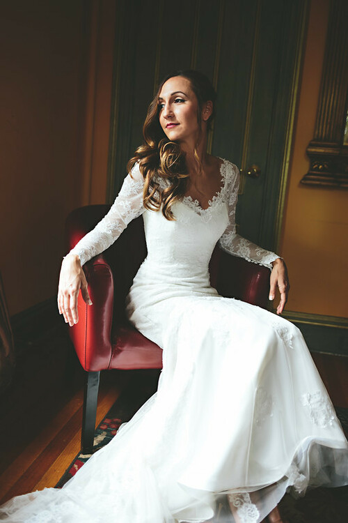 Custom Wedding Dress with Chantilly Lace