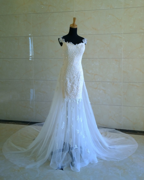 Mermaid Wedding Dress with Detachable Train